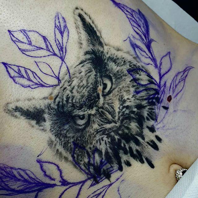 #hibou #realismtattoo #tatouagerennes #t