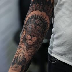 #indiaamericana #lion #realismtattoo #re
