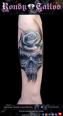 skull tattoo #bishoprotary #worldfamousink #tatouagerennes #tatoueur #photo #artistetatouer #photogr