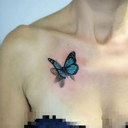 #butterfly #3d #3dtattoo #3dbutterfly #b