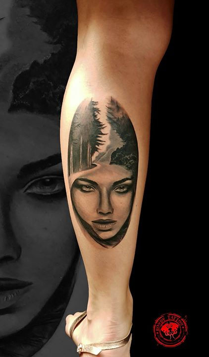 portrait tattoo done at convention corsa