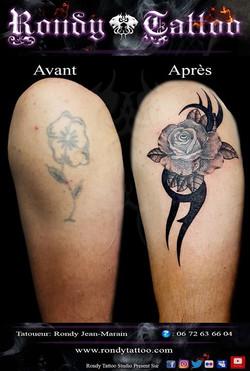 #recouvrementtatouage #rosetatouage #idée #tattoo #tattoorennes #tatoueur #artiste #artistetatouer #