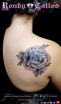 #rose #mandala #tattoo #tatouagerennes #tatoueur #artistetatouer #tattooartist #tatoueurrennes #ink