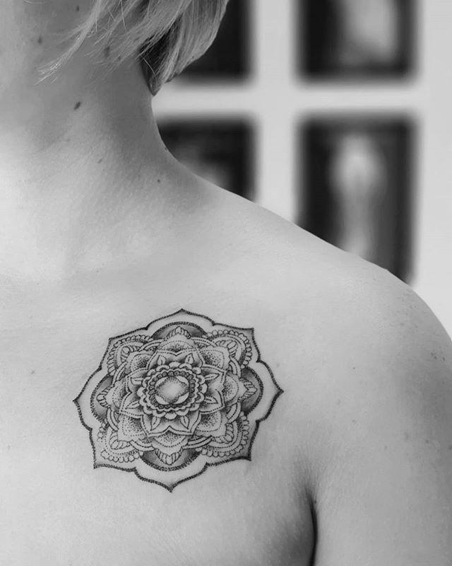 #mandala #flowers #mandalatattoo #tattoo