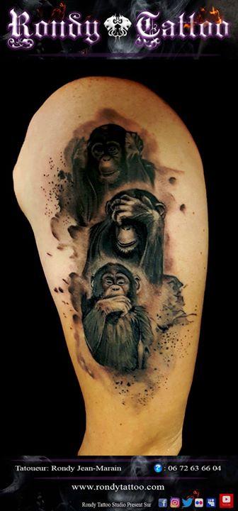 singes de la sagesse #tatouage #tatouagerennes #tatoueur #artistetatouer #tattooartist #tatoueurrenn