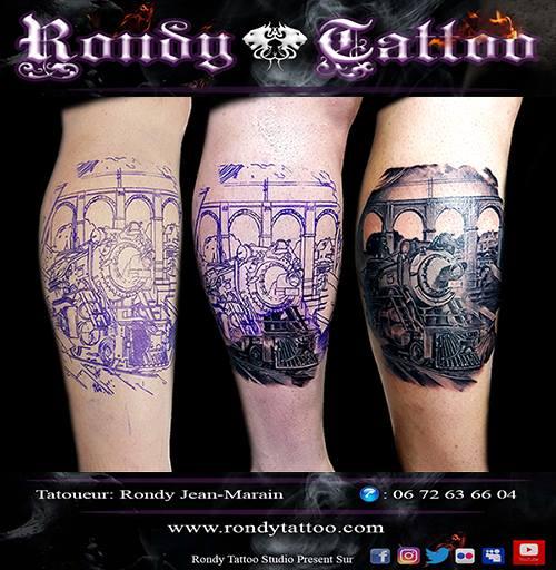 #train #réalisme #tattoo #tatouagerennes #tatoueur #artistetatouer #tattooartist #tatoueurrennes #in