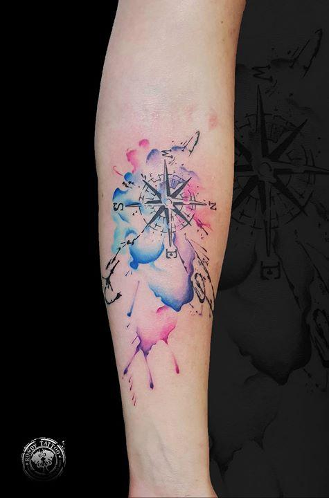 aquarelle tattoo - www.rondytattoo