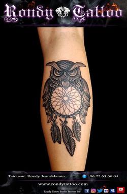 Convention Internationale de Tatouage Bretagne _ Corsair Tattoo Ink  #hibou # attrapereve #tatouage
