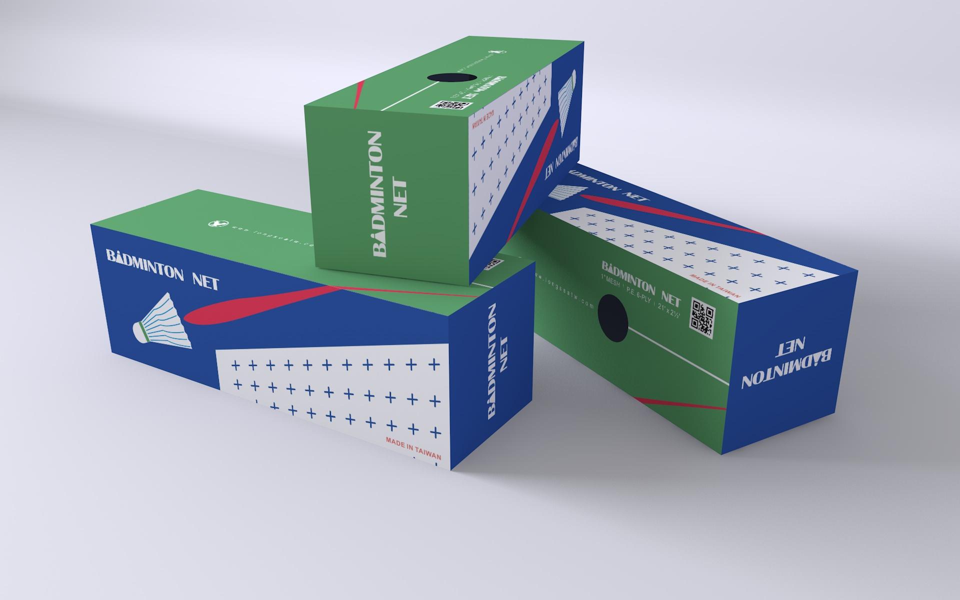 龍西企業 / 羽球網包裝
