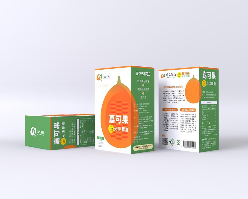 潮間帶文創品牌 嘉良生技 嘉可果葉黃素包裝