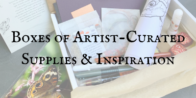 Boxes of Artist-Curated Supplies & Inspi