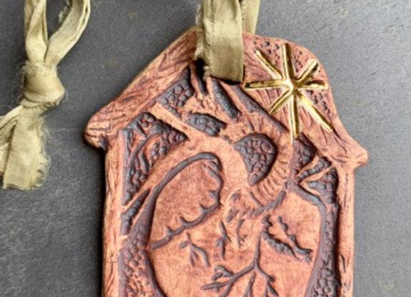 Love Dwells Ornament: Sage