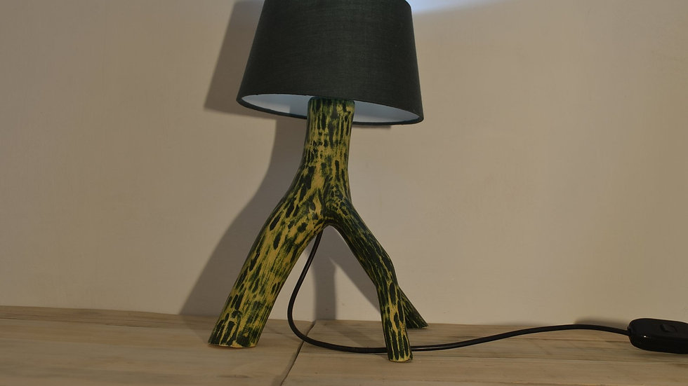 Green Stained Ash Desk Lamp