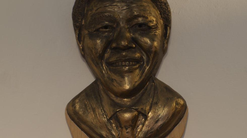 Nelson Mandela Bronze Lamp with Quote