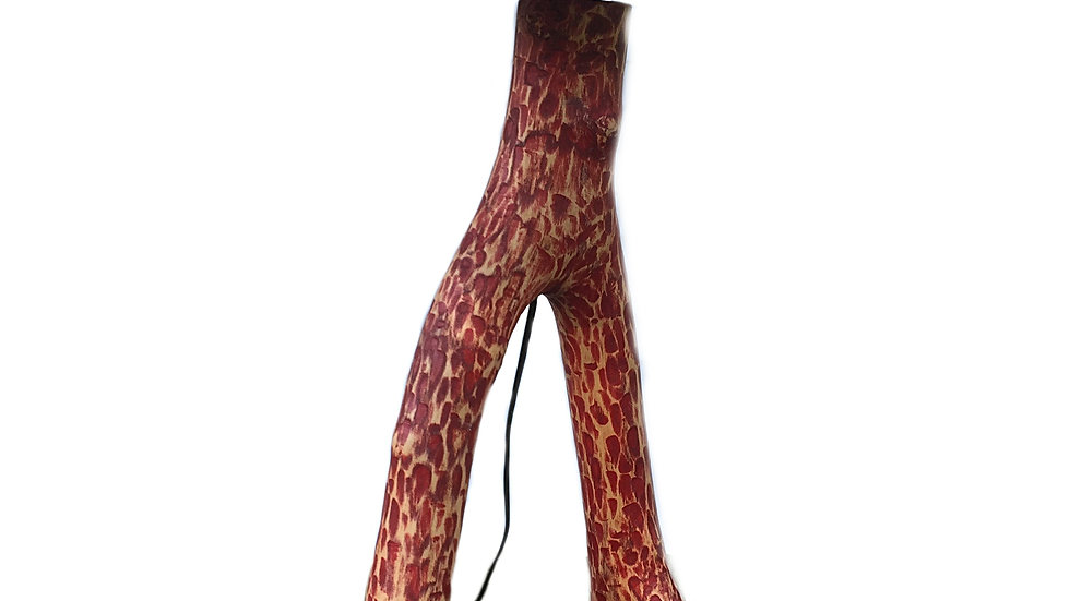 Red Stained Floor Lamp - Small