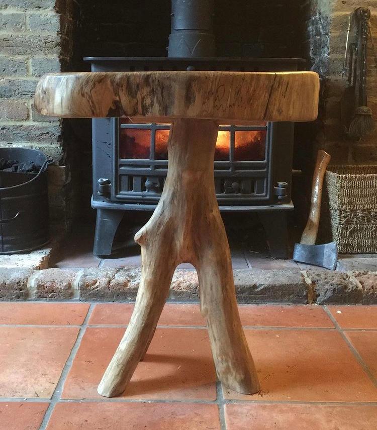 Oak topped coffee table