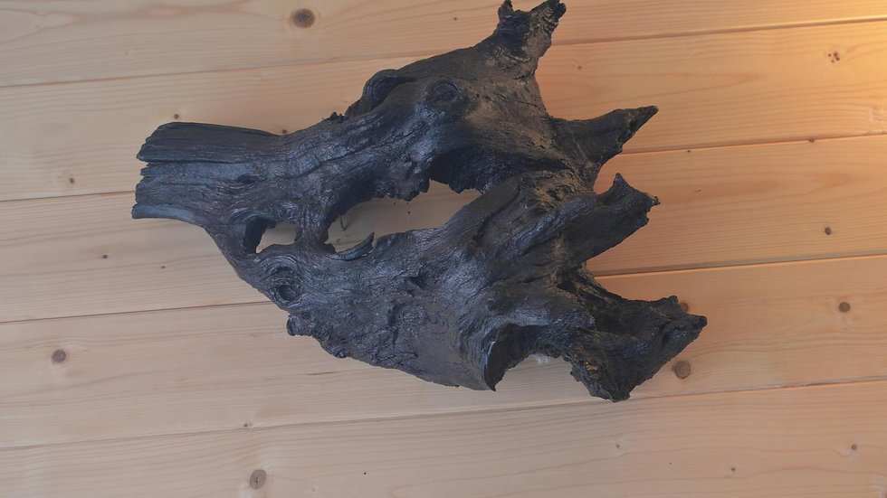 """""""The Boar's Head"""" - Weathered Chestnut Stump Wall Light"""