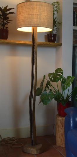 Sweet chestnut standing lamp