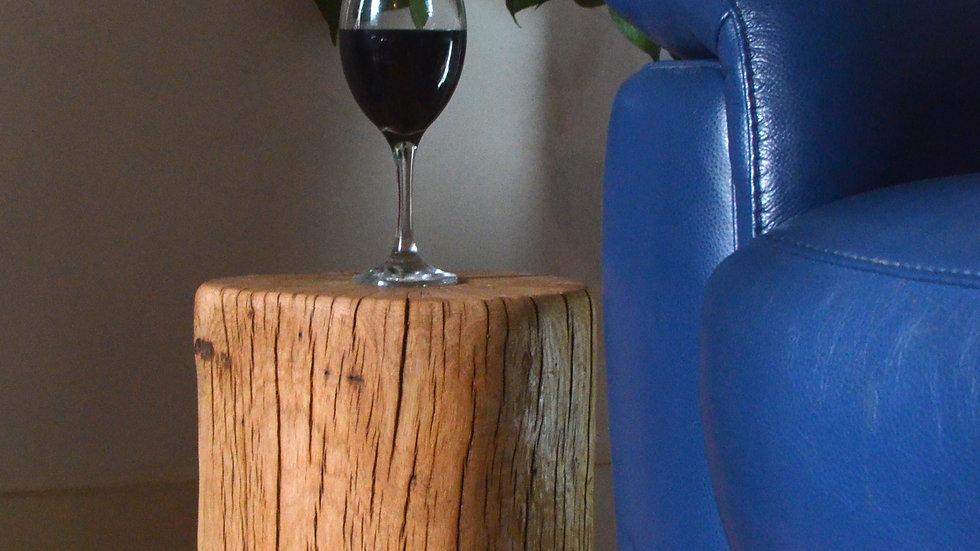 Oak Stump Side Table