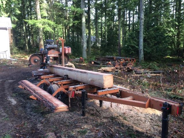 Fir Log Sawmilling
