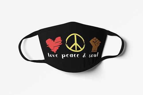 Love Peace Soul Face Covering