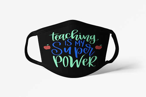 Teacher Power Face Covering