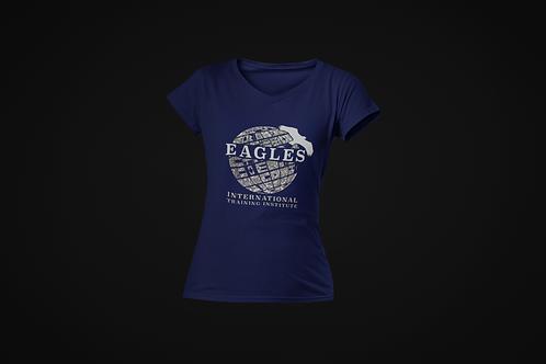 EITI V-Neck Glitter Shirt (Navy)