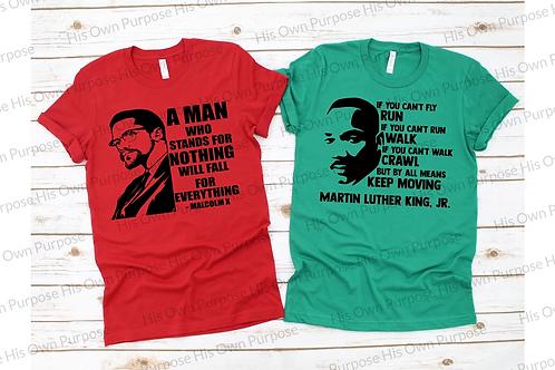 Malcolm X & MLK - C