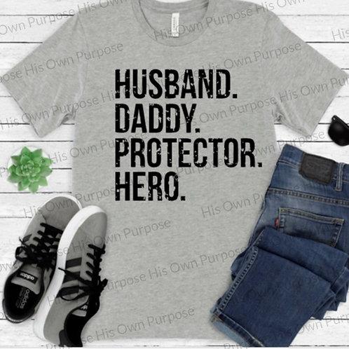 Husband...Hero (Gray font)