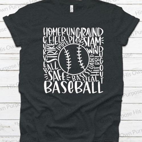 Baseball Typography