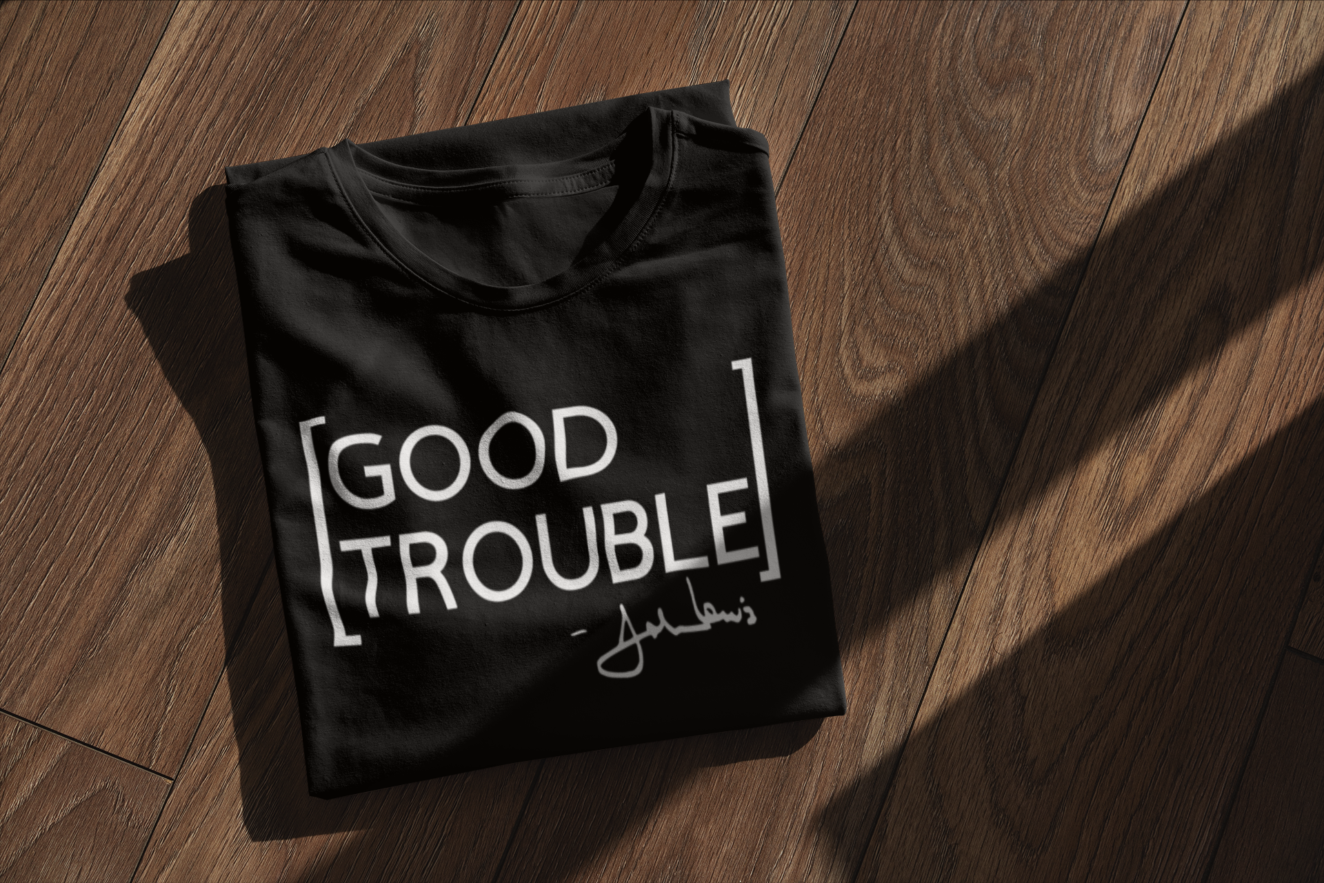 mockup-of-a-folded-t-shirt-placed-on-a-w