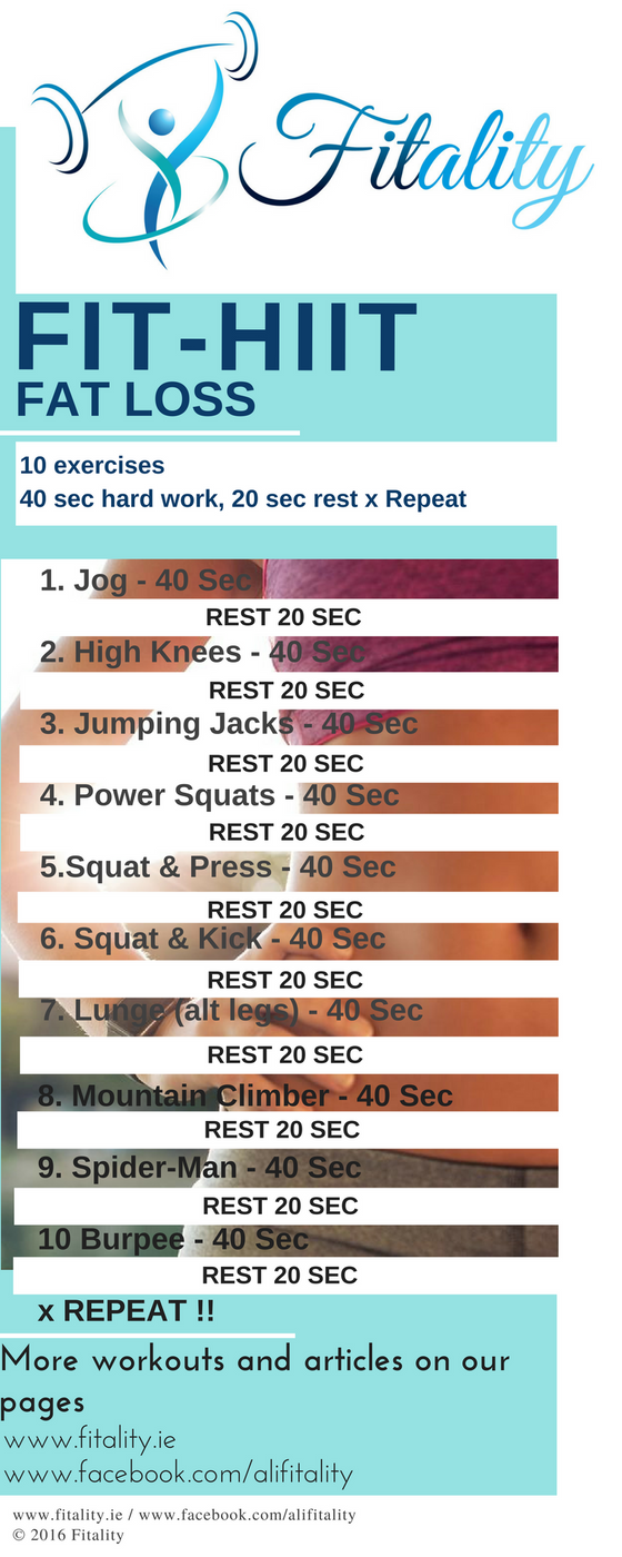 No Equipment ? No Time ?              NO PROBLEM.                                Try our FIT-HIIT Pr