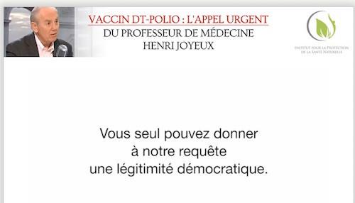L'appel urgent du Professeur Henri Joyeux