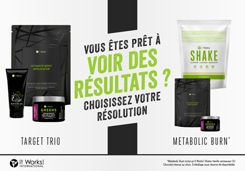 TARGET TRIO wrap defining gel greens METABOLIC BURN Shake wrap greens It Works Vous eyes pret a avoir des resultats choisissez votre resolution