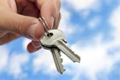 Home Rekey Service - 6 keyholes, 4 keys