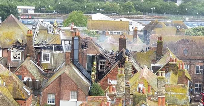 Huge Fire at the George Hotel