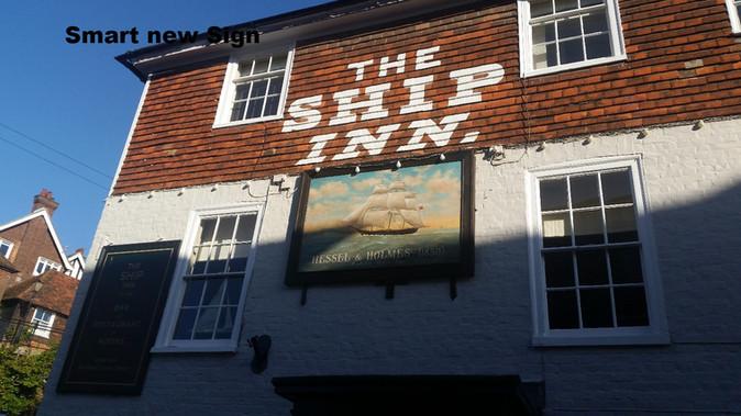 Renovated Sign for Ship Inn