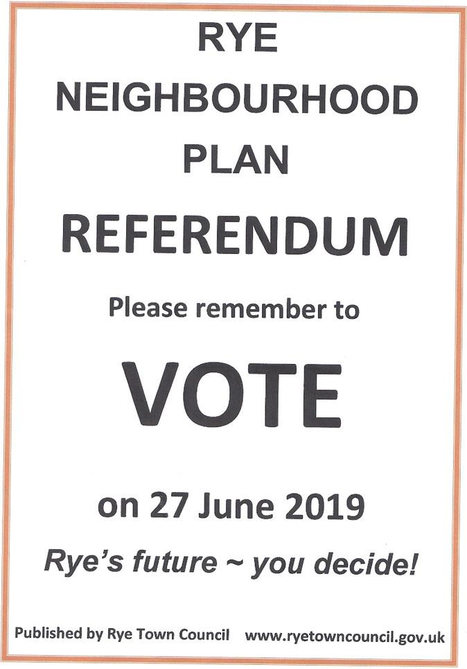 Referendum Date for Rye Neighbourhood Plan