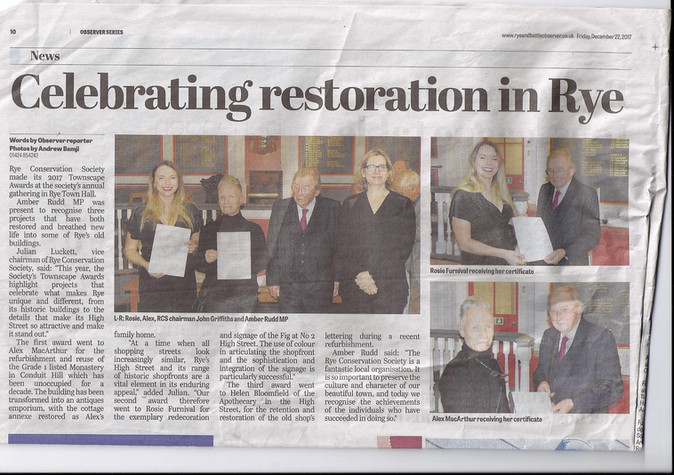 Rye Observer Features the Awards Presentation