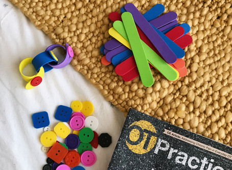 Developing Fine-Motor Skills With  Fun Button-Chains