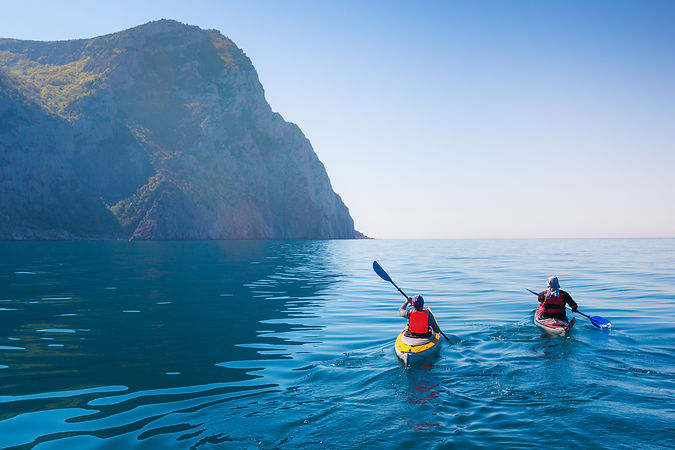Kayaking in the sea from back view ..jpg