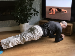 Personal trainer demonstrating exercises