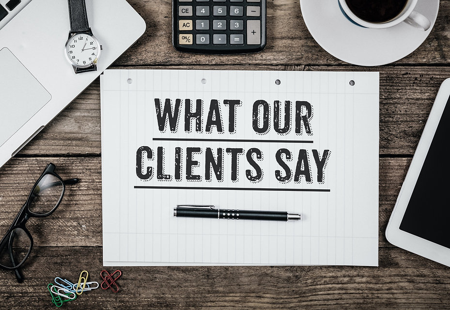 What our clients say logo