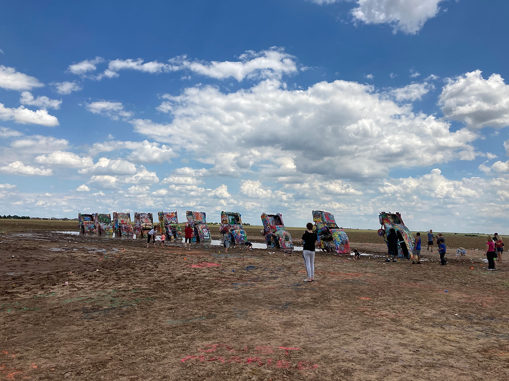 Cadillac Ranch from a distance