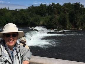 Lynn at Brooks Falls