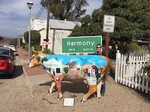 Harmony CA sign