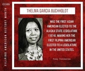 Thelma Garcia Buchholdt graphic courtesy of FANHS Alaska