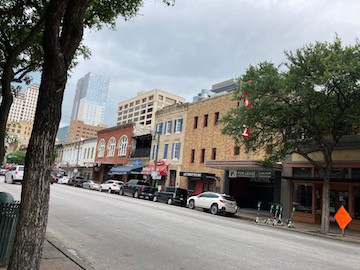 Old and new Austin buildings