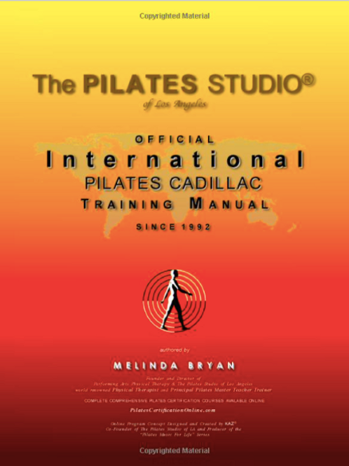 Pilates CADILLAC Training Manual (Official Version)