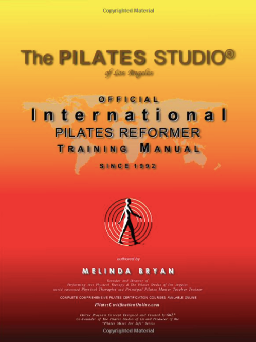 Pilates REFORMER Training Manual (Official Version)